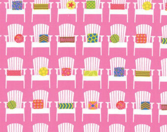 Moda Fabrics White Beach Chairs With Pillows On Pink