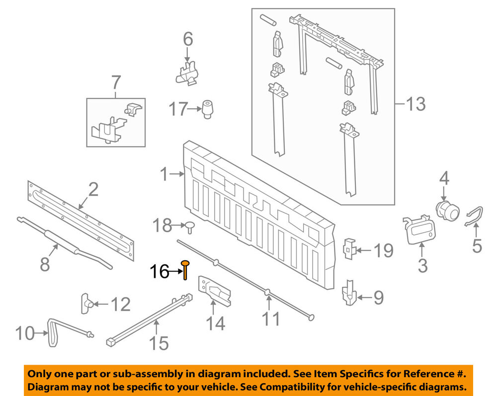 Diagram  2010 Ford F 150 Tailgate Diagram Full Version Hd