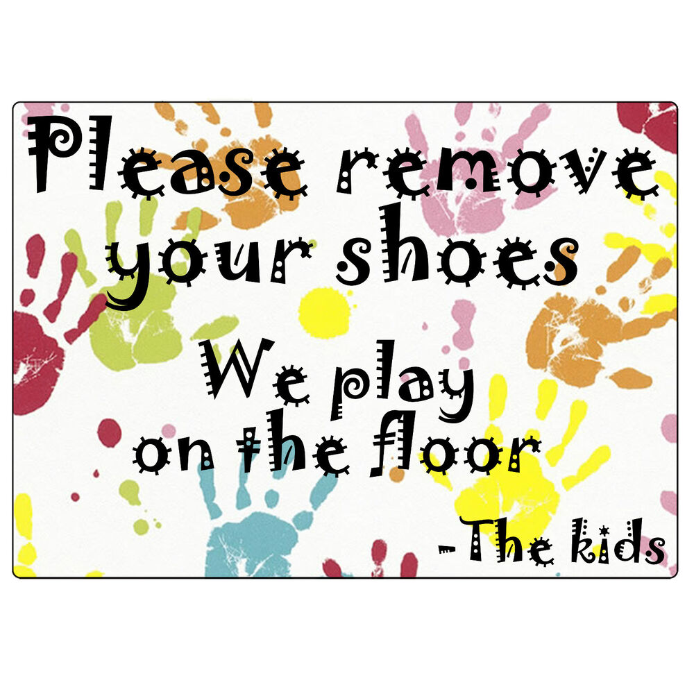2x plastic adhesive please remove your shoes signs take off shoes stickers ebay. Black Bedroom Furniture Sets. Home Design Ideas