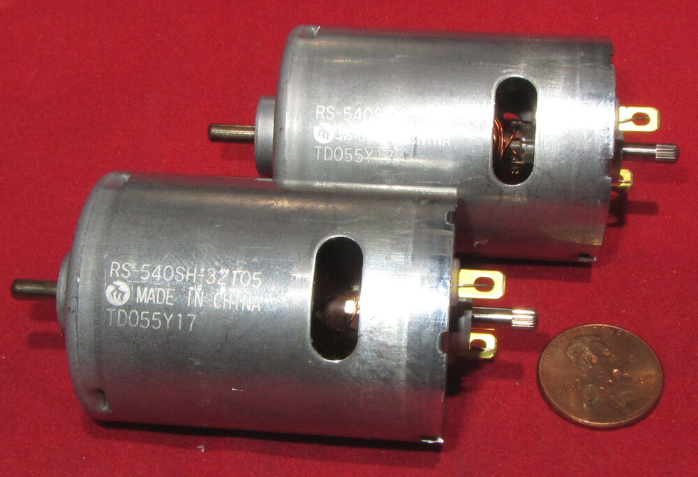 2 Pcs Dual Shaft Mabuchi Motor Rs 540sh 32105 12vdc 5820