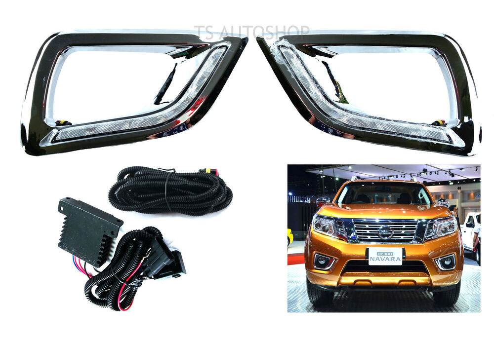 fit nissan ffrontier navara np300 d23 2015 on set led daytime running light drl ebay
