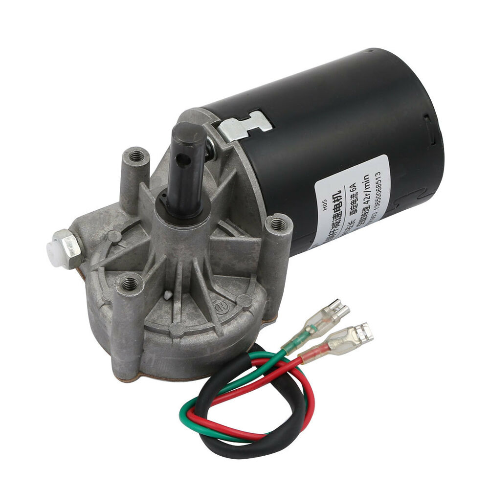 Dc 12v 42rpm shaft high torque left worm gear motor speed for High torque high speed dc motor