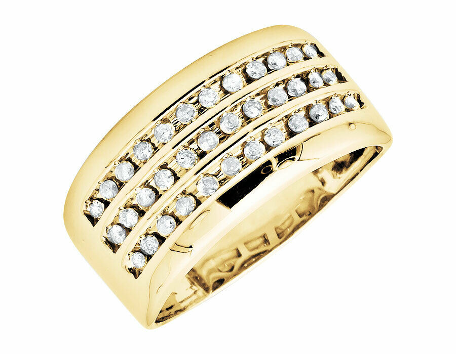 Yellow Gold Channel Set Ring
