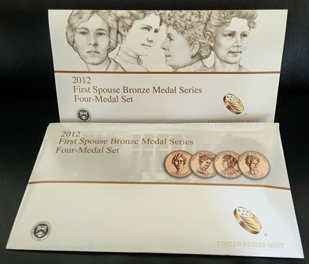2012 First Spouse Medals Set Us Mint New 1st Lady Bronze