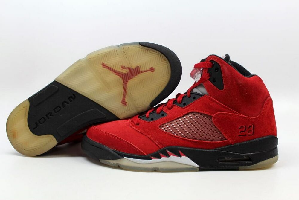 in stock 3923b 8cc8c Details about Air Jordan Retro 5 Raging Bull Suede Size 10.5