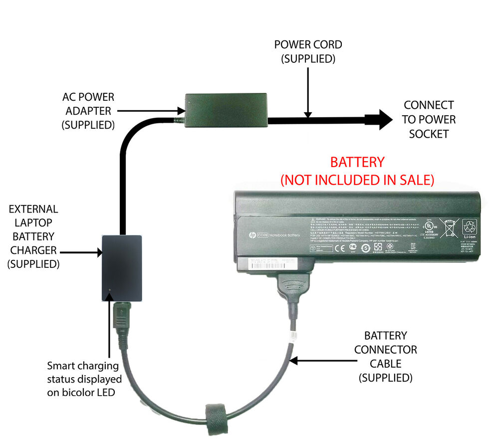 Hp notebook quickdock price - External Laptop Battery Charger For Hp Elitebook 8460p 8470p 8560p Cc06 Cc09