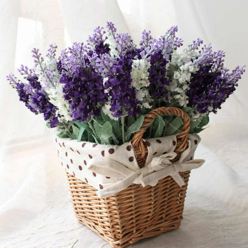 1pc bouquet lifelike artificial lavender flower home for Artificial flowers decoration home