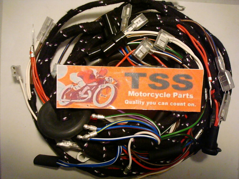 Mc73 Triumph Tr7 T140 Cloth Wiring Harness 1976