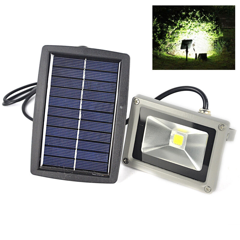 wasserdicht 10w solar led 6000k wei flutlicht fluter scheinwerfer strahler lamp ebay. Black Bedroom Furniture Sets. Home Design Ideas