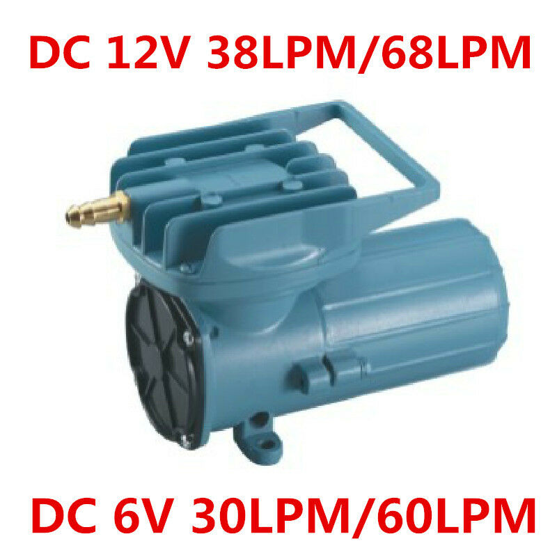38 68l M Dc12v Aquarium Air Compressor Pump For Fish Tank Pond Infalted Aerator Ebay