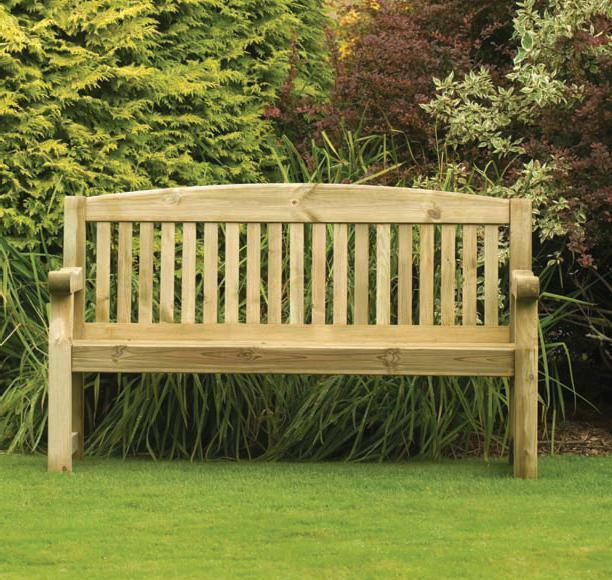 Wooden Benches Outdoor: Athol 5ft (Foot) Heavy Duty Wooden Garden Bench