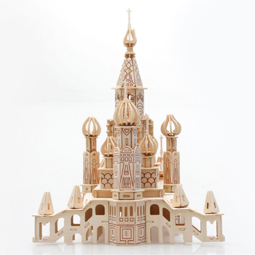 ... 3D Wooden Puzzle Model St Petersburg Castle Toy Jigsaw USA WP   eBay