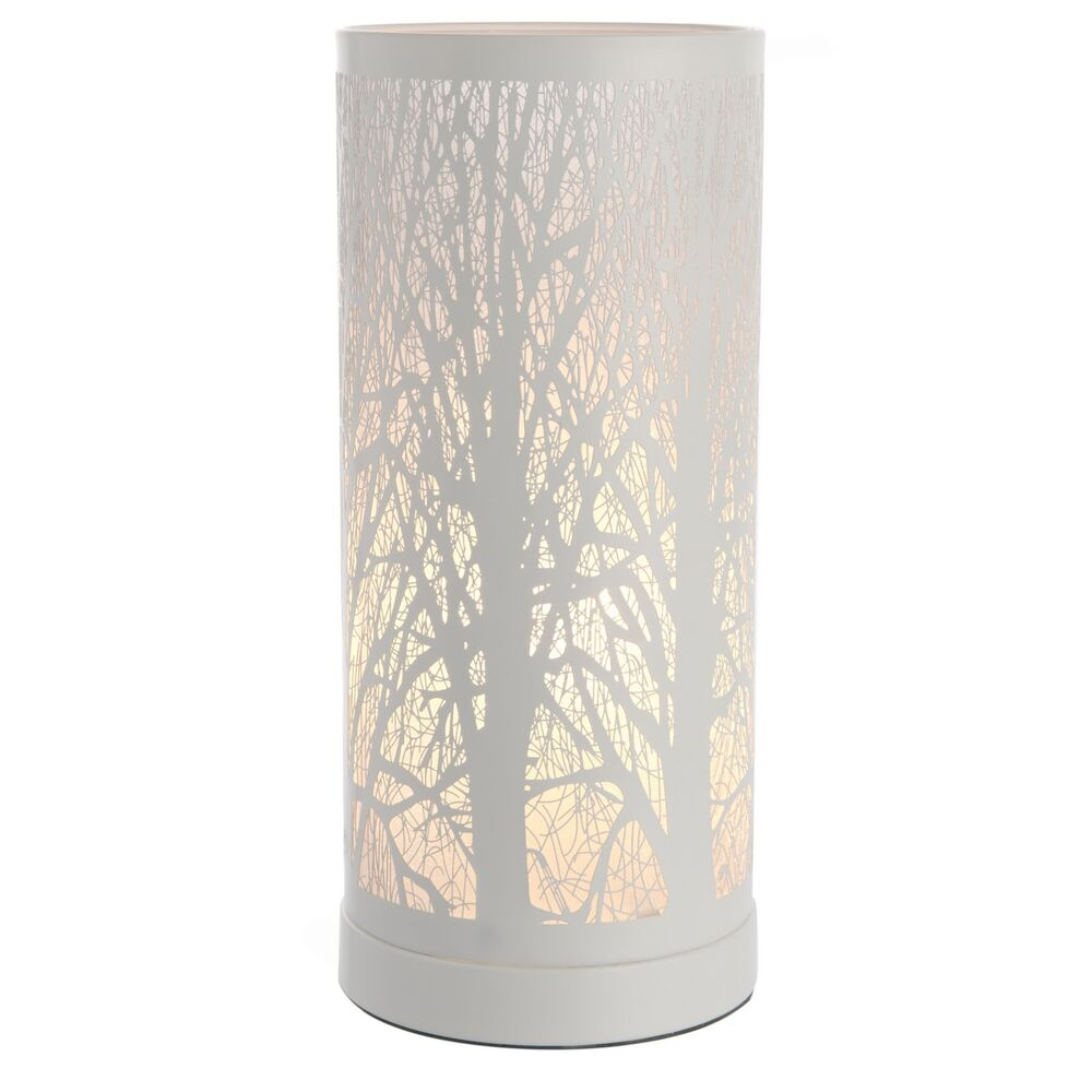new white tree scene touch dimmer light table lamp bedside bedroom lounge bnib ebay. Black Bedroom Furniture Sets. Home Design Ideas
