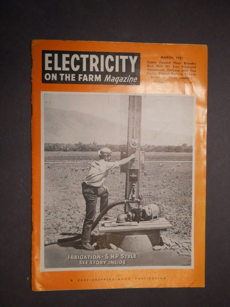 MAR 1951 ELECTRICITY ON THE FARM MAGAZINE Country Life Vintage Ads PP&L R