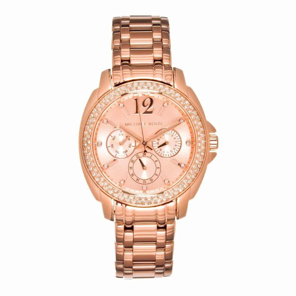 new michael kors women 39 s cameron rose gold bracelet glitz. Black Bedroom Furniture Sets. Home Design Ideas