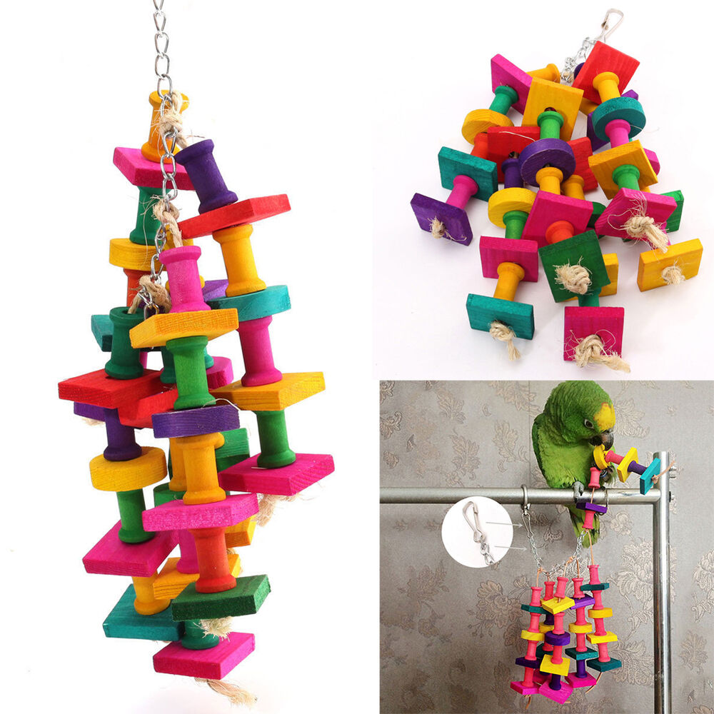 Parakeet Chew Toys : Colorful bird parrot chew toy rope harness cage toys