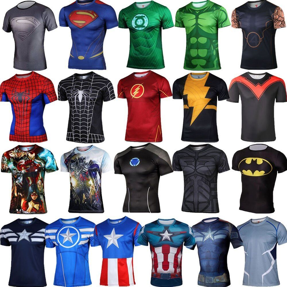 Superhero marvel costume cycling t shirts short sleeve for Costume t shirts online