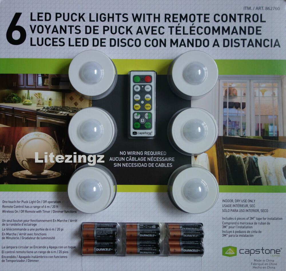 led puck lights remote control batteries wireless wardrobe. Black Bedroom Furniture Sets. Home Design Ideas