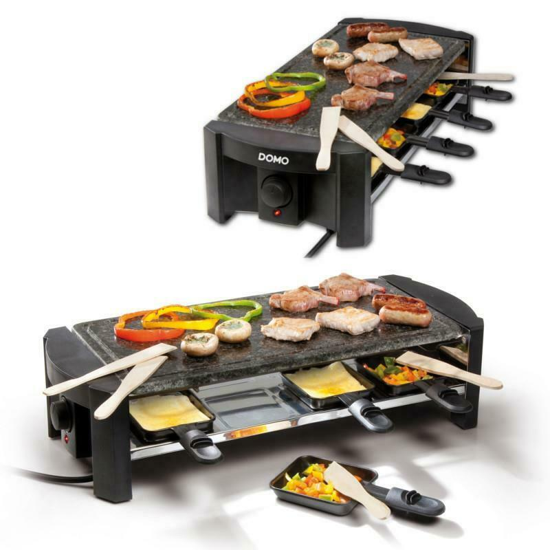 xl raclette f r 8personen party grill mit steinplatte. Black Bedroom Furniture Sets. Home Design Ideas