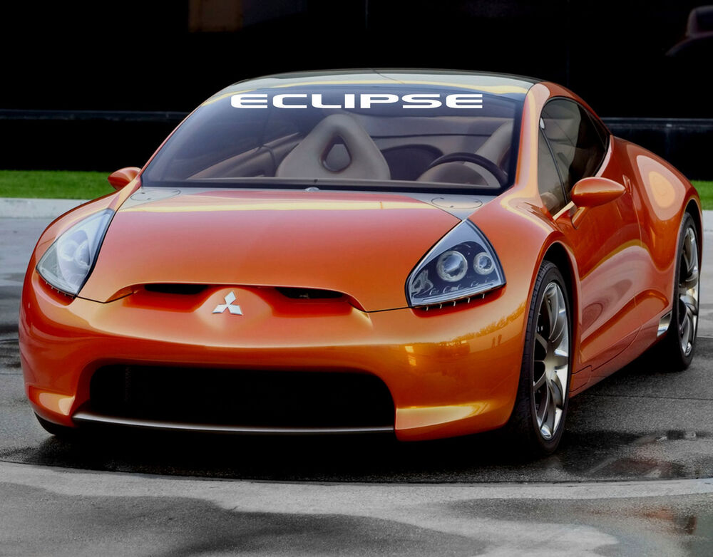 "Eclipse decal 4' x 36"" windshield sticker vinyl car banner spyder inspired 