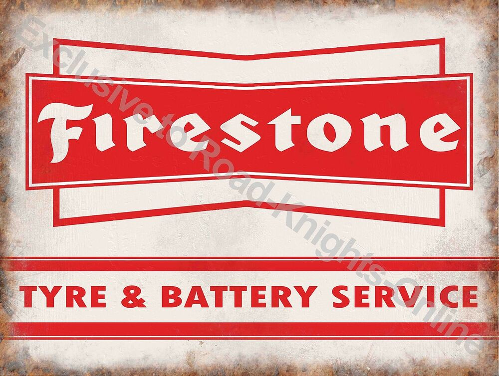 Car Old Garage Signs : Vintage garage firestone tyre battery service motor car