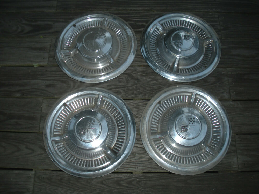 Vintage Set Of 4 1958 Chevy Impala Hubcaps Usa Sale Ebay