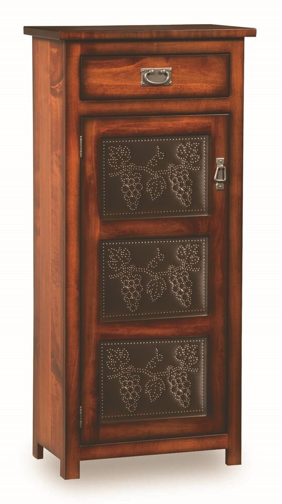 Amish Pie Safe Tin Door Panels Kitchen Pantry Cupboard