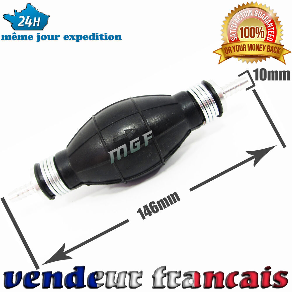 10mm pompette poire d 39 amorcage pompe carburant gasoil essence diesel clapette ebay. Black Bedroom Furniture Sets. Home Design Ideas