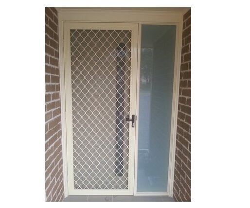 Diamond Grill Security Door W Stainless Steel Fly Screen