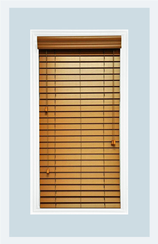 Http Www Ebay Com Itm Custom Cut To Size 2 Faux Wood Horizontal Window Blind Oak Inside Mount 121802052417