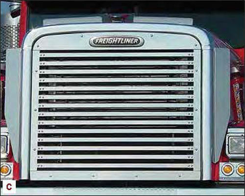 Freightliner Fld120 Hood : Freightliner fld and classic hood grill inserts with