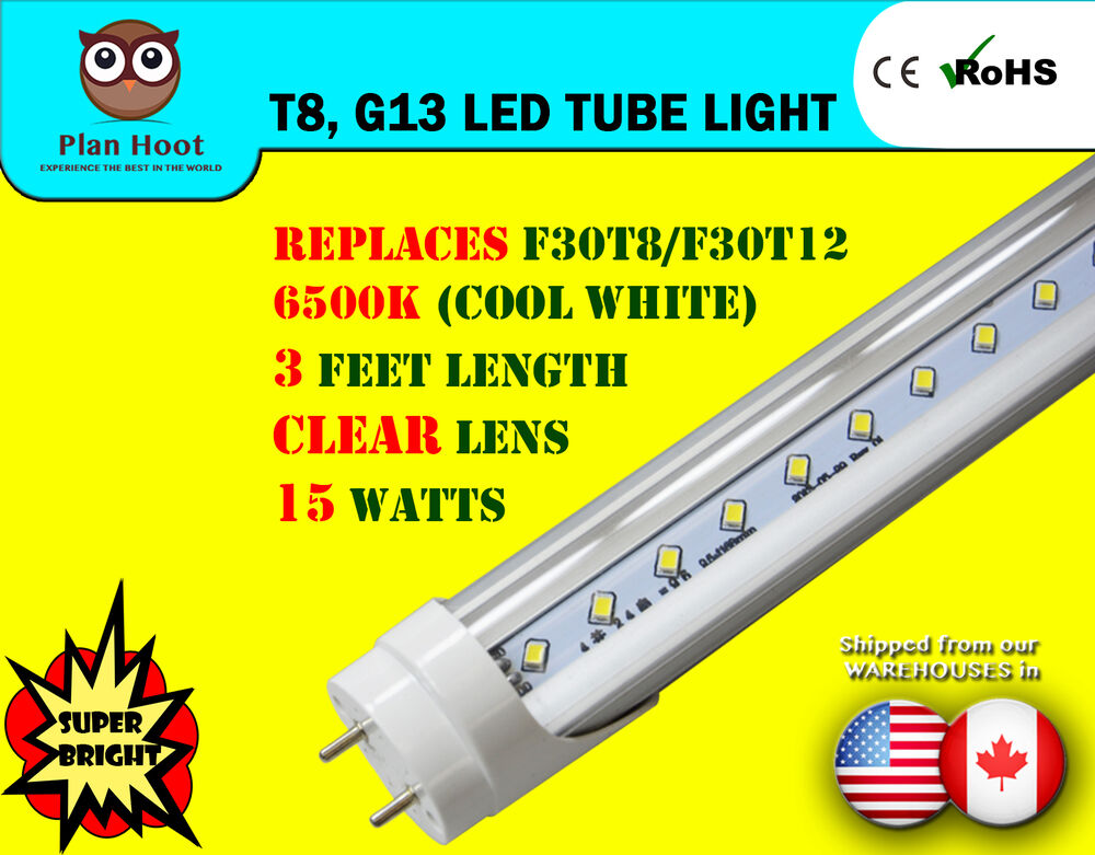 F30t8 F30t12 Replacement Led Tube Light 3 Feet 35 67 Quot 15
