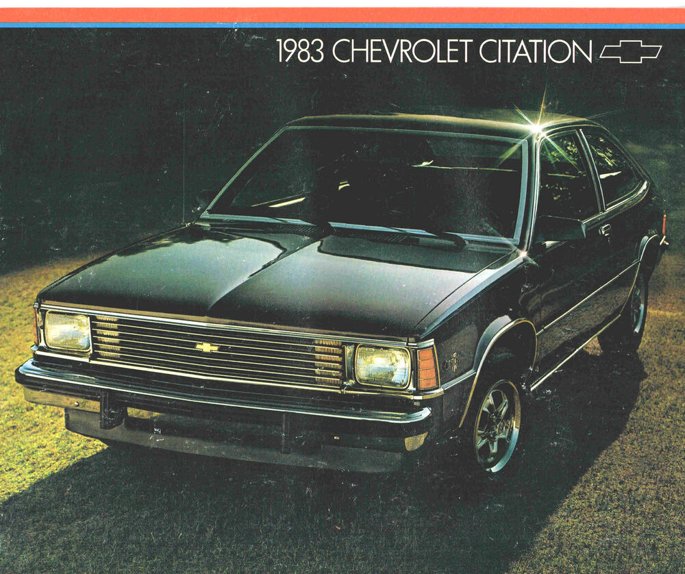 1983 Chevy CITATION Brochure With Color Chart: X-11