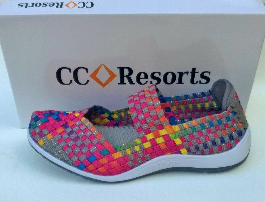 Clothing, Shoes & Accessories Bright Cc Resorts Sammi Comfort Walking Shoes White And Silver Slip On Size 37