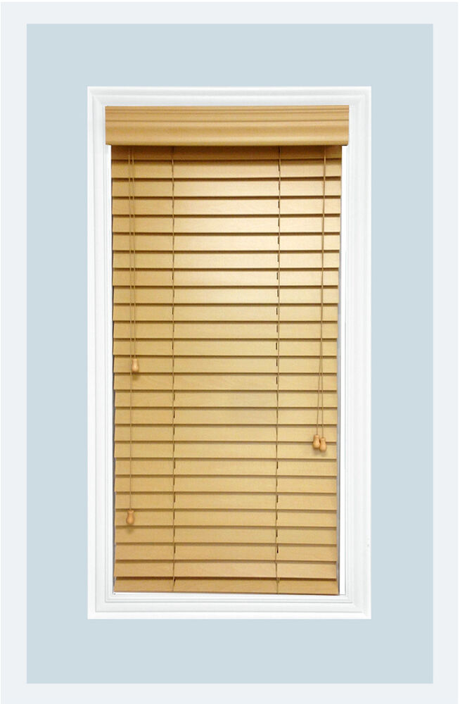 Http Www Ebay Com Itm Custom Cut Size 2 Real Wood Horizontal Window Blind Natural Inside Mount 121804893614