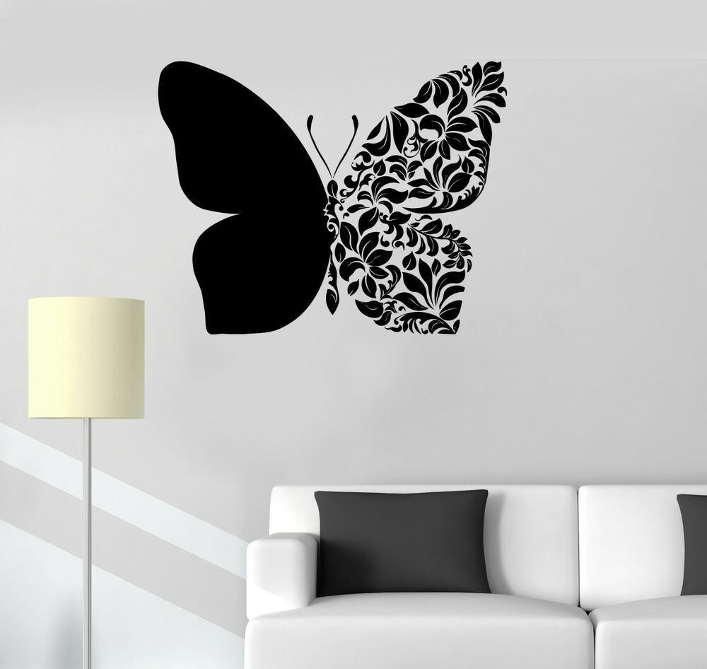 Vinyl Decal Beautiful Butterfly Art Room Decoration Wall
