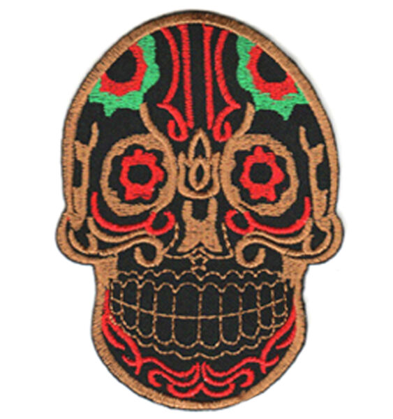 Ecusson Patch CALAVERA  Tête de mort Mexicaine Tattoo Tatouage Mexique Chicanos