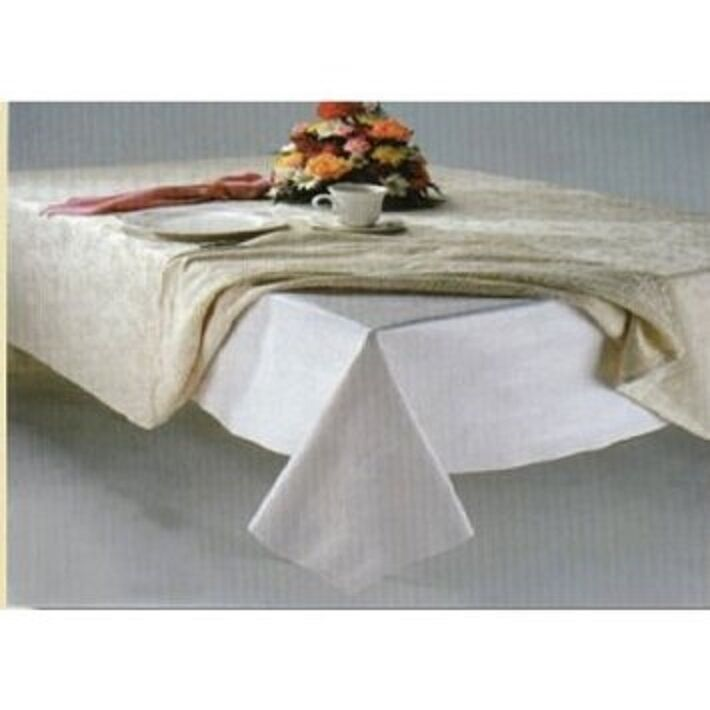 White Quilted Flannel Dining Table Pad Protector 52 X120