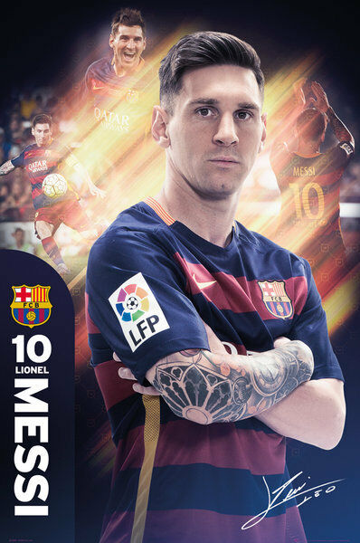 LIONEL MESSI 2016 - BARCELONA POSTER - 24 x 36 FOOTBALL ...