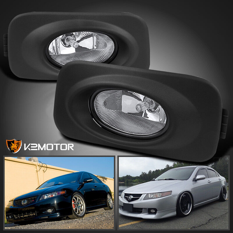 2004 2005 Acura Tsx Jdm Clear Bumper Driving Fog Lights