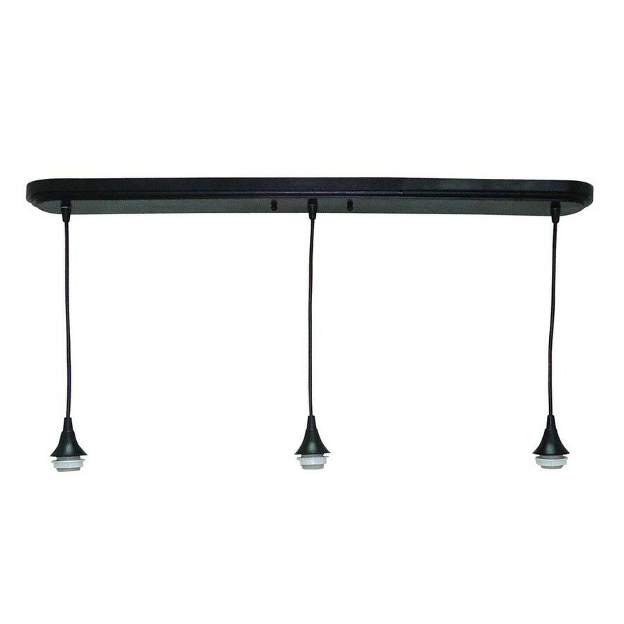 Ceiling 3 Light Pendant Fitter Lighting Fixture Black