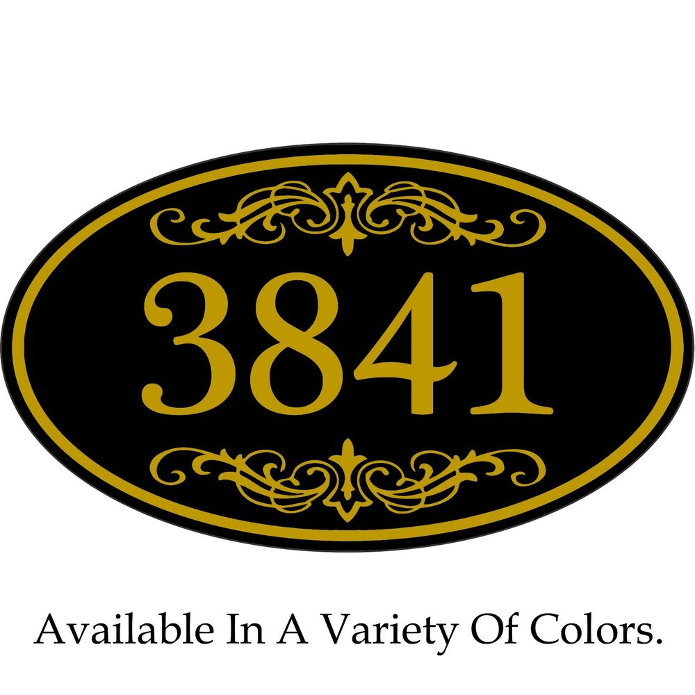 house address sign personalized aluminum plaque 12 x 7 custom color scheme ebay. Black Bedroom Furniture Sets. Home Design Ideas