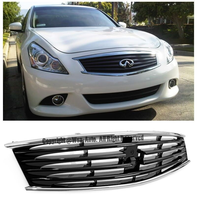G37 Sedan 0 60 >> For 08-13 Infiniti G37 14-15 Q60 Coupe Front Bumper Hood Mid-Night Black Grille | eBay