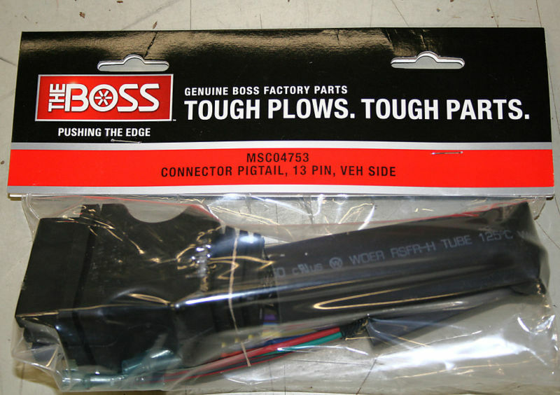 boss plow 13 pin truck side connector pigtail msc04753 ebay. Black Bedroom Furniture Sets. Home Design Ideas