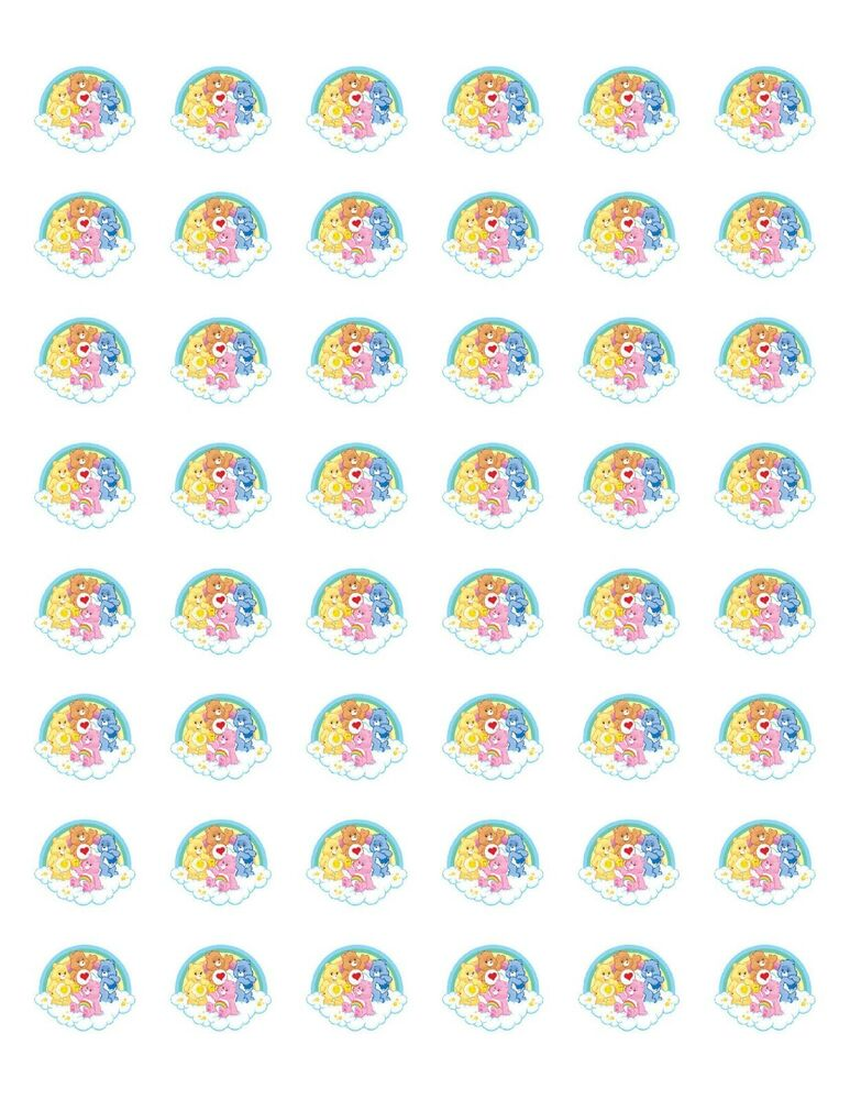 48 care bears envelope seals labels stickers 12quot round ebay for Half inch round labels