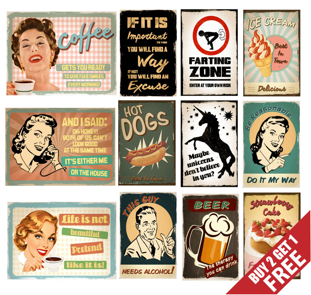 Retro carteles para decoraci n de pared cotizaciones - Decoracion paredes vintage ...