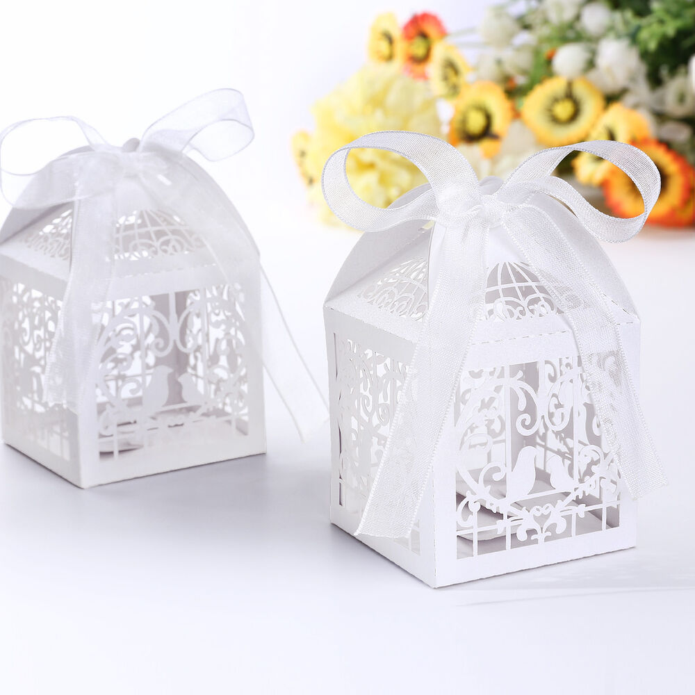 Wedding Gift Box Ebay : ... Box Love Birds Wedding Bridal Bomboniere Favour Gift Laser Cut eBay