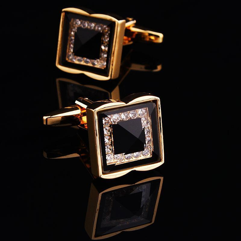 Mens Wedding Party Gifts: Men's Square Crystal Cuff Links Mens Wedding Party Gift