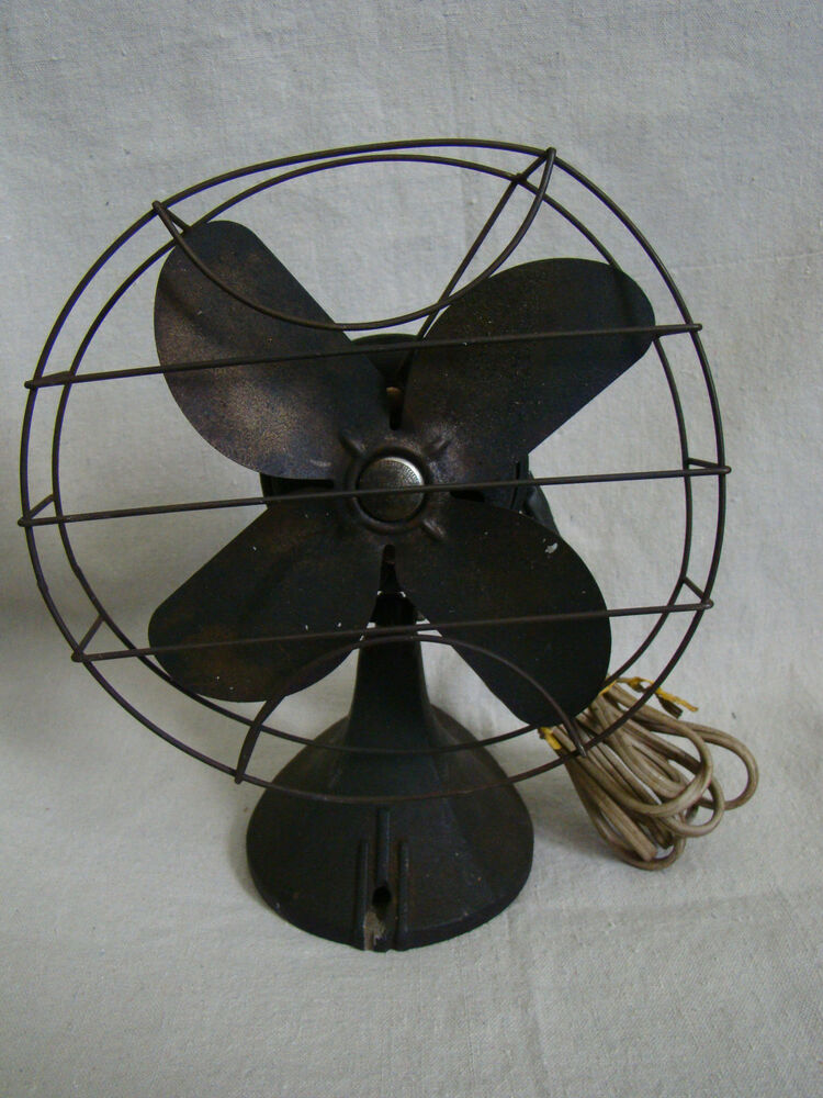 Vintage Table Fan : Vintage antique industrial table fan nice patina