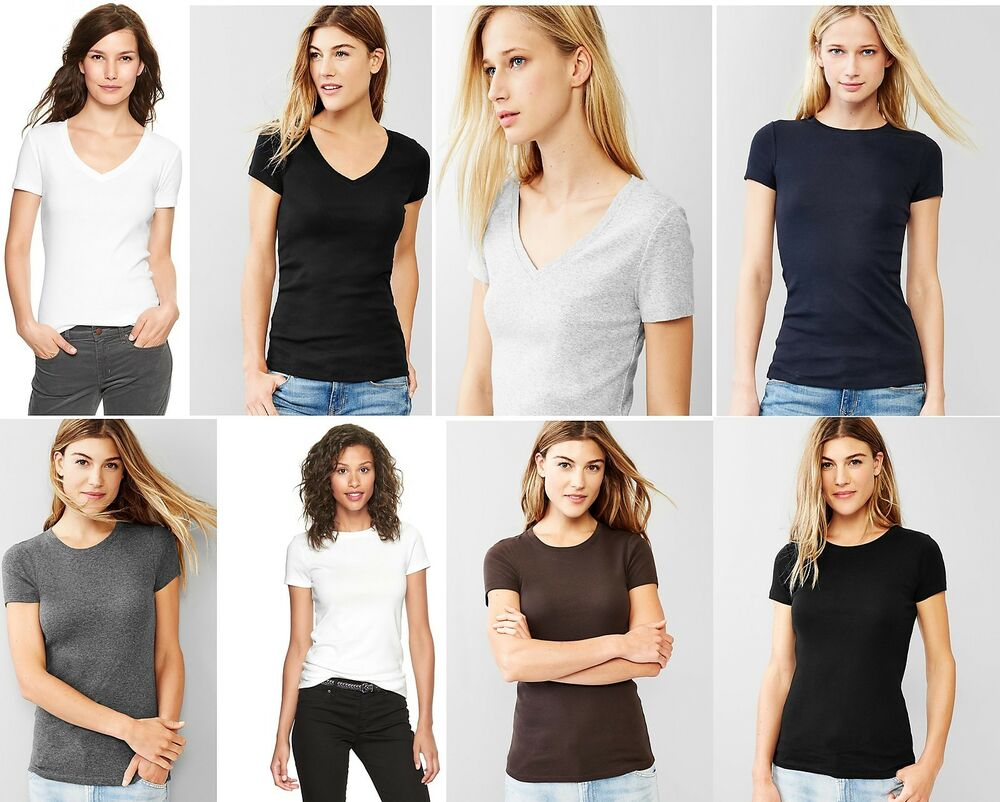 Gap womens favorite short sleeve tee t shirt v neck or for Gap petite t shirts